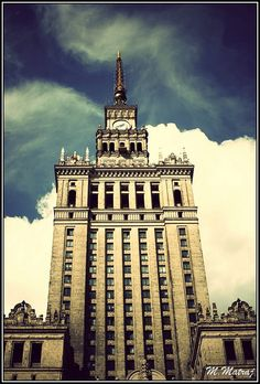Palace of Culture and Science, Warsaw, Poland. A gift from Soviet Union to Polish brothers :)