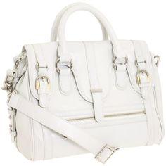 bfa6e91f706 Badgley Mischka - Cherise Leather Satchel (White) - Bags and Luggage found  on Polyvore