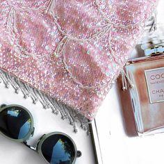 Vintage pink sequin beaded top Super chic vintage pink sequin beaded top. Love this piece! Vintage Tops Crop Tops