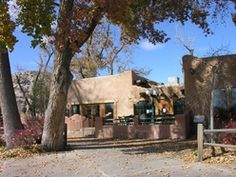 The Pueblo Nature Center/Cafe, an adobe building built with local clay, volunteers and donations.