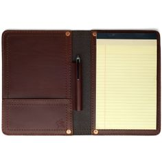 Saddleback Leather Notepad Holder Small Chestnut: Office Products