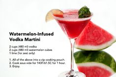 It's #ThirstyThursday! This refreshing martini infusion is a guaranteed summer…