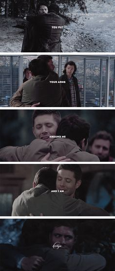 I've never truly loved till you put your arms around me…     #spn #destiel