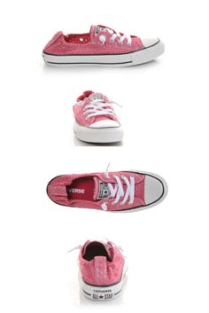 Dainty pink Converse with eyelets? Yes, please! #love