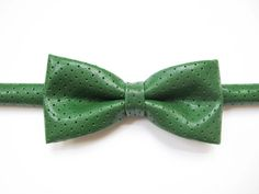Retro Green faux leather bow tie green leather mesh by Equeglitz, $28.00