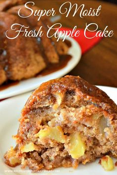 Are you looking for an amazing fresh apple cake to help celebrate fall? This Fresh Apple Cake is a copy cat recipe from The Apple Barn Restaurant in Sevierville Tennessee. It is super moist full of flavor and apples and fabulous! Baked Apple Dessert, Apple Dessert Recipes, Köstliche Desserts, Delicious Desserts, Apple Bundt Cake Recipes, Cookie Recipes, Moist Apple Cake, Fresh Apple Cake, Apple Cakes