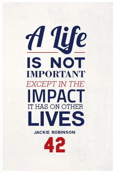 """Jackie Robinson Quote on Print. See more at www.finesportsprints.com #robinson #sportsquote #dodgers"""