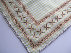 Vintage Chicken Scratch Tablecloth   I have posted some pictures today of a tablecloth I made 40 years ago when I was 15 and at school. I ...