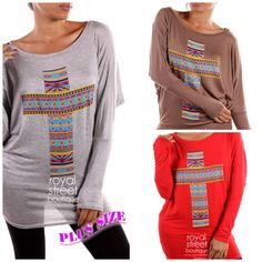 Aztec Cross Top  95% RAYON 5% SPANDEX PRINT TOP MADE IN USA  Colors Available:  Heather Grey  Mocha  Red  1X/2X/3X  $19 shipped -minimum of 2 per color per size must be met!  **item will be open for sale until 3/26 then we will check to see if minimums have been met**  To order please click this link:  https://docs.google.com/forms/d/13TlsABlRkd0WS6R7c6Dgzwvyfnoe1gXYnvnCpi9s5u4/viewform?usp=send_form