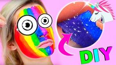 diy fluffy unicorn slime selber machen i pinkie pie neon. Black Bedroom Furniture Sets. Home Design Ideas