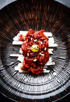 Sesame, Soy & Chilli Beef Tartare (Yukhoe). Sometimes, the best thing in foodie life is to enjoy what nature has to offer…in its very own natural form.