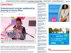 Jamaica Entertainment Minister - Jamaica Observer Article