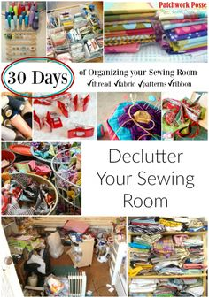 Don't let your supplies and fabric take over your space. Here are some helpful tips to get your sewing room organized and clutter free.