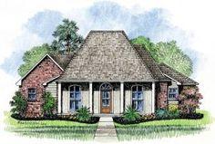 Tickfaw - Louisiana House Plans Acadian House Plans