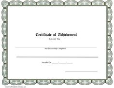 This Printable Certificate Is To Be Presented To Someone Who Is