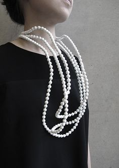 Kuntee Sirikrai -  Currently exhibiting Degree show at Dyson Building, Royal College of Art, Battersea 20th-30th June 2013 - Rubber, Pearls - - Kuntee is a Thailand based designer and about to finish MA in Goldsmithing, Silversmithing, Metalwork and Jewellery from Royal College of Art, London.