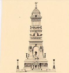 Elevation of a design for A Memorial Shrine to general Grant, New York City