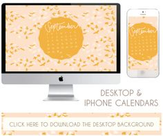 september desktop + iphone calendars ... new month, new free download from Going Home to Roost :)