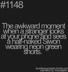 Haha I guess this happens :) Is it sad that this always happens to me, but with my mom? ^^ It's always über awko taco. :P
