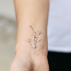 """Set of 3   2 x 3"""" Temporary tattoo of my original carnation design Delicate and fun, add some flare to your skin for a girls day out, a date night, an awesome concert or just because you want to! #ala"""