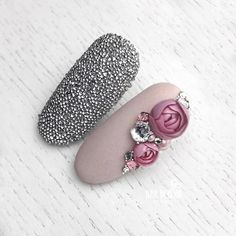 Crystalpixie magic by with bubble flowers! Rose Nail Art, Rose Nails, Flower Nail Art, 3d Nail Art, Nail Art Hacks, Simple Nails Design, Nail Design Spring, Fabulous Nails, Gorgeous Nails