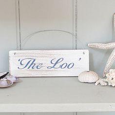 'The Loo' Wooden Sign - bathroom