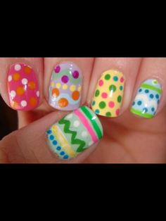 Easy Easter nails.