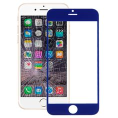 [USD2.35] [EUR2.22] [GBP1.73] iPartsBuy Front Screen Outer Glass Lens for iPhone 6(Dark Blue)