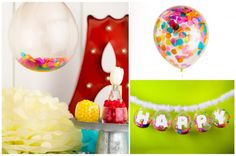 confetti balloons! perfect for D's birthday