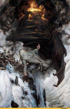 Balrog and Gandalf