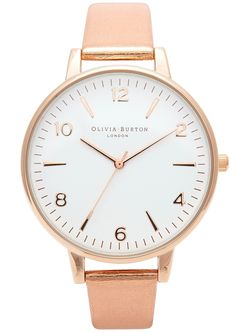 Olivia Burton High Shine Metal Large Watch in Rose Gold available at the Dressing Room £72 Shop Now!