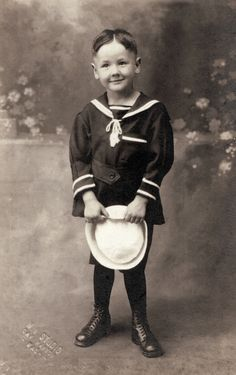 +~+~ Vintage Photograph ~+~+  Little Sailor Boy ~  c.1925