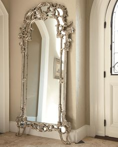 Decorative Floor Mirror - too elaborate for any of my decor choices, but boy howdy is it pretty!