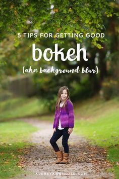 """5 Tips for Getting Good Bokeh - photography tutorial with tips for getting good """"bokeh"""" - the out of focus areas in your image."""
