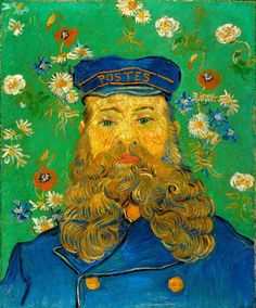 The Postman Joseph Roulin, 1888, by Vincent van Gogh | Primarily self-taught and unappreciated during his lifetime, Vincent van Gogh made over 900 paintings and 1,100 works on paper during the decade that he worked as an artist. #vanGogh