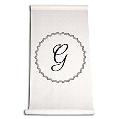 Ivy Lane Design Wedding Accessories Aisle Runner with Initial, Letter G, Black Review