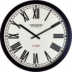 Buy Acctim Templeton Wall Clock, Black, from our Clocks range at John Lewis & Partners. Large Clock, Safety Glass, Roman Numerals, Plastic Case, Decorating Your Home, Modern, Stuff To Buy, Black, Wall Clocks