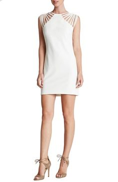 Free shipping and returns on Dress the Population 'Cora' Strappy Shoulder Sheath Dress at Nordstrom.com. Spunky straps atop this fitted little black dress flirtatiously highlight the shoulders.
