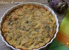 gateau di carciofi Vegetarian Recipes, Cooking Recipes, Healthy Recipes, Potato Galette, Go Veggie, Romanian Food, Pizza, Antipasto, Tasty Dishes