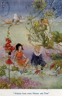 Fairies from every Flower and Tree - The Cradle Ship by Edith Howes, illustrations by Florence Mary Anderson 1916