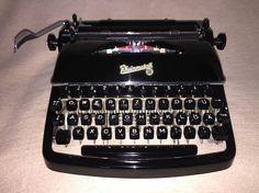 Vintage portable typewriter Rheinmetall KsT mechanische