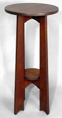 Arts & Crafts Round Board Leg Table Mission Furniture, Craftsman Furniture, Arts And Crafts Furniture, Small Furniture, Beautiful Landscapes, End Tables, Projects To Try, Woodworking, Nightstands