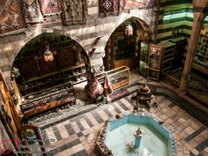 Madrasa Abdullah al-Azem Religious school constructed in 1779,located in the old city of Damascus, From the eastern end of Souq al-Hamidiyeh