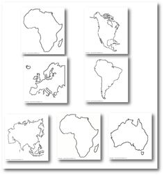 The continents - . Continents Activities, Continents And Oceans, Montessori Activities, Geography For Kids, Geography Lessons, Teaching Geography, Ocean Projects, Asia Map, Map Skills