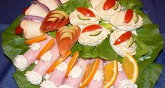 See related links to what you are looking for. Cold Dishes, Good Food, Yummy Food, Food Garnishes, Hungarian Recipes, Meat Recipes, Finger Foods, Sushi, Goodies