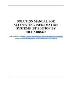 Download solution manual for accounting information systems 1st edition by richardson chang smith Accounting Information, Manual, Author, Books, Free, Libros, Textbook, Book, Writers