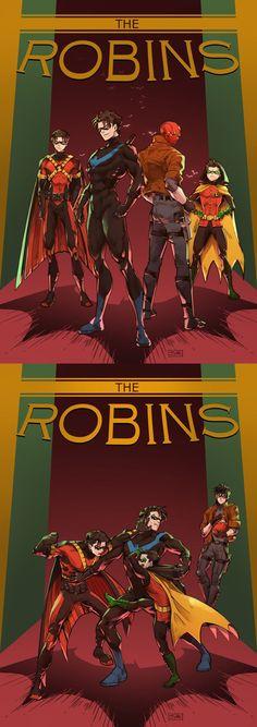 Red Robin, Nightwing, Red Hood and Robin Nightwing, Batgirl, Batwoman, Im Batman, Batman Robin, Gotham Batman, Robin Superhero, Batman Art, Dc Comics Art