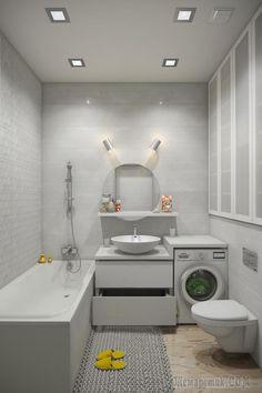 32 Modern Laundry Room Ideas In Bathroom For Small Spaces Modern Laundry Rooms, Laundry In Bathroom, Small Bathroom, Bathroom Layout, Bathroom Interior Design, Interior Design Living Room, Casa Milano, Bathroom Gallery, Bathroom Inspiration