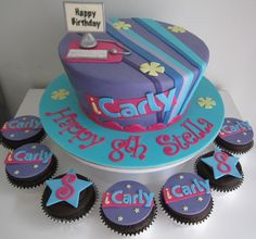 - ICarly Cake and matching cupcakes. The design is not my own.
