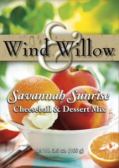 Wind & Willow Savannah Sunrise Cheeseball Mix will brighten up any brunch with flavors of Orange and Peach.